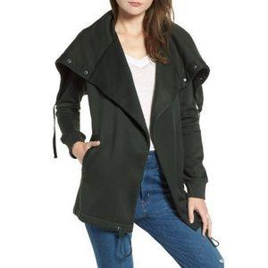 BLANKNYC Funnel Neck Fleece Jacket Sweatshirt - M